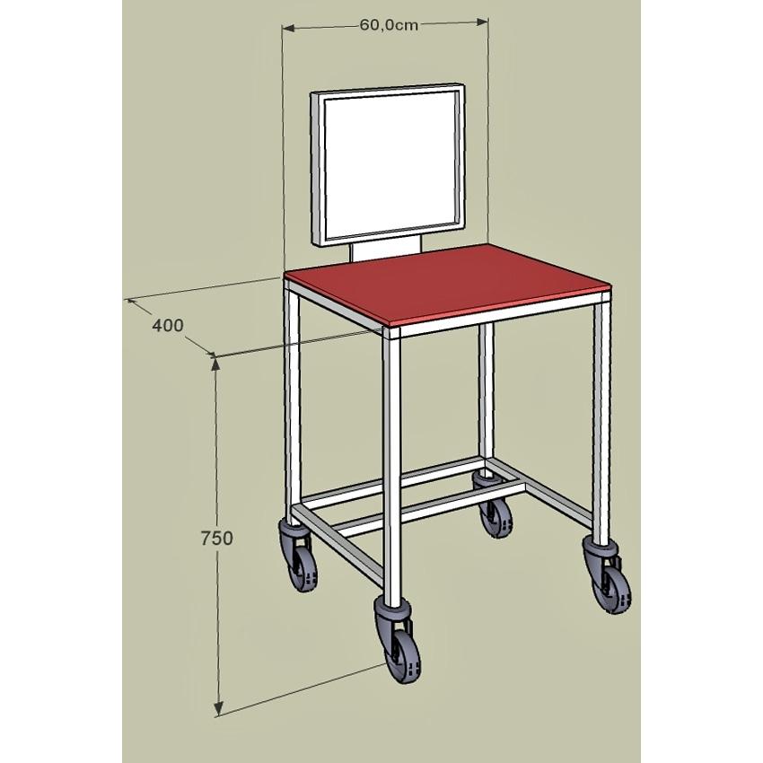 Becker m dical sodiprho 73 table informatique mobile for Table informatique
