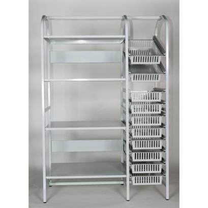 Structure de stockage aluminium