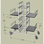 Chariot double colonne