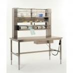 Table de conditionnement inox à hauteur variable
